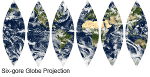 Globe Projection in 6 Gores