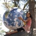 Earthball inflatable globe